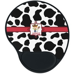 Cowprint w/Cowboy Mouse Pad with Wrist Support