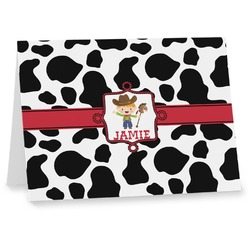 Cowprint w/Cowboy Notecards (Personalized)