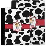 Cowprint w/Cowboy Notebook Padfolio w/ Name or Text