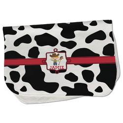 Cowprint w/Cowboy Burp Cloth - Fleece w/ Name or Text