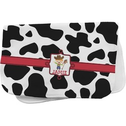 Cowprint w/Cowboy Burp Cloth (Personalized)
