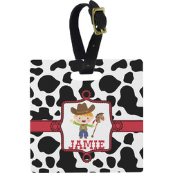 Cowprint w/Cowboy Luggage Tags (Personalized)