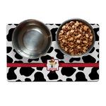 Cowprint w/Cowboy Dog Food Mat (Personalized)