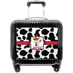 Cowprint w/Cowboy Pilot / Flight Suitcase (Personalized)