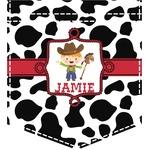 Cowprint w/Cowboy Iron On Faux Pocket (Personalized)
