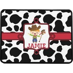 Cowprint w/Cowboy Rectangular Trailer Hitch Cover (Personalized)