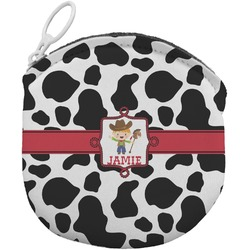 Cowprint w/Cowboy Round Coin Purse (Personalized)