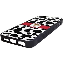Cowprint w/Cowboy Rubber iPhone 5/5S Phone Case (Personalized)