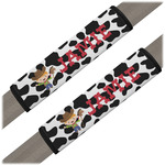 Cowprint w/Cowboy Seat Belt Covers (Set of 2) (Personalized)