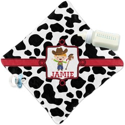 Cowprint w/Cowboy Security Blanket (Personalized)