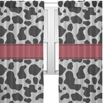Cowprint w/Cowboy Sheer Curtains (Personalized)