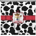 Cowprint w/Cowboy Shower Curtain (Personalized)