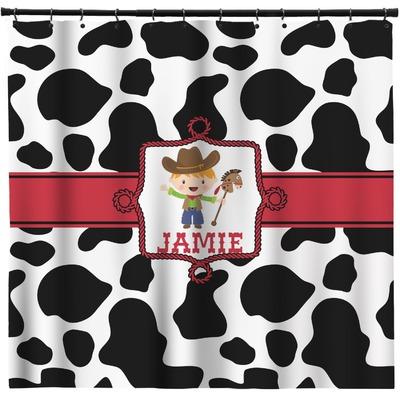 Cowprint W Cowboy Shower Curtain 69 X70 Personalized Youcustomizeit