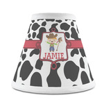 Cowprint w/Cowboy Chandelier Lamp Shade (Personalized)