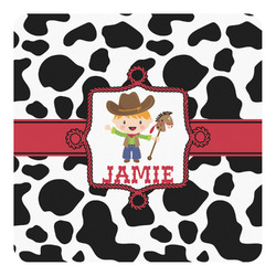 Cowprint w/Cowboy Square Decal (Personalized)