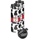 Cowprint w/Cowboy Stainless Steel Skinny Tumbler (Personalized)