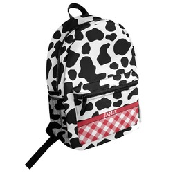 Cowprint w/Cowboy Student Backpack (Personalized)