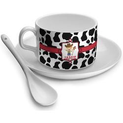 Cowprint w/Cowboy Tea Cups (Personalized)