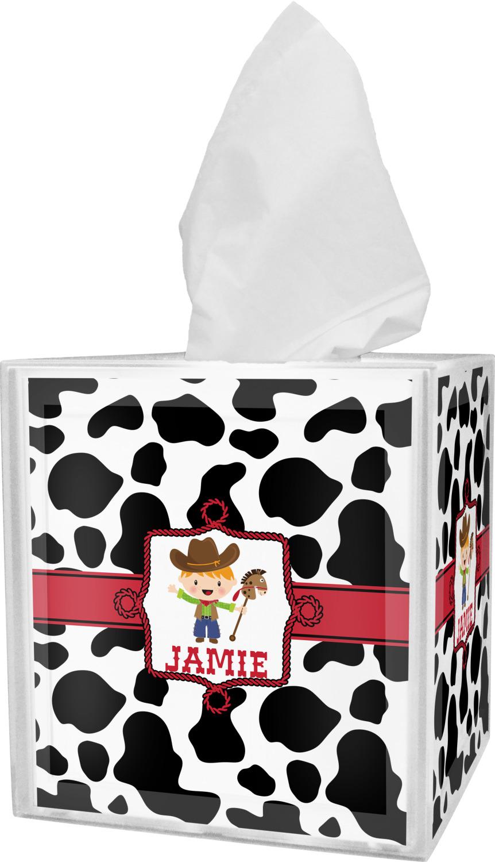 Cowprint w/Cowboy Bathroom Accessories Set (Personalized ...