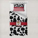 Cowprint w/Cowboy Toddler Bedding w/ Name or Text