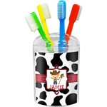 Cowprint w/Cowboy Toothbrush Holder (Personalized)