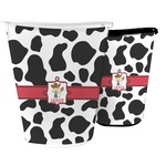 Cowprint w/Cowboy Waste Basket (Personalized)