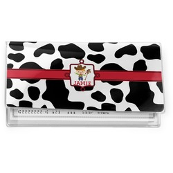 Cowprint w/Cowboy Vinyl Check Book Cover (Personalized)