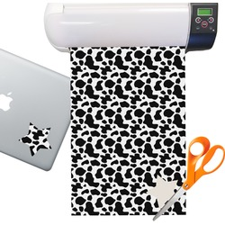 Cowprint w/Cowboy Sticker Vinyl Sheet (Permanent)