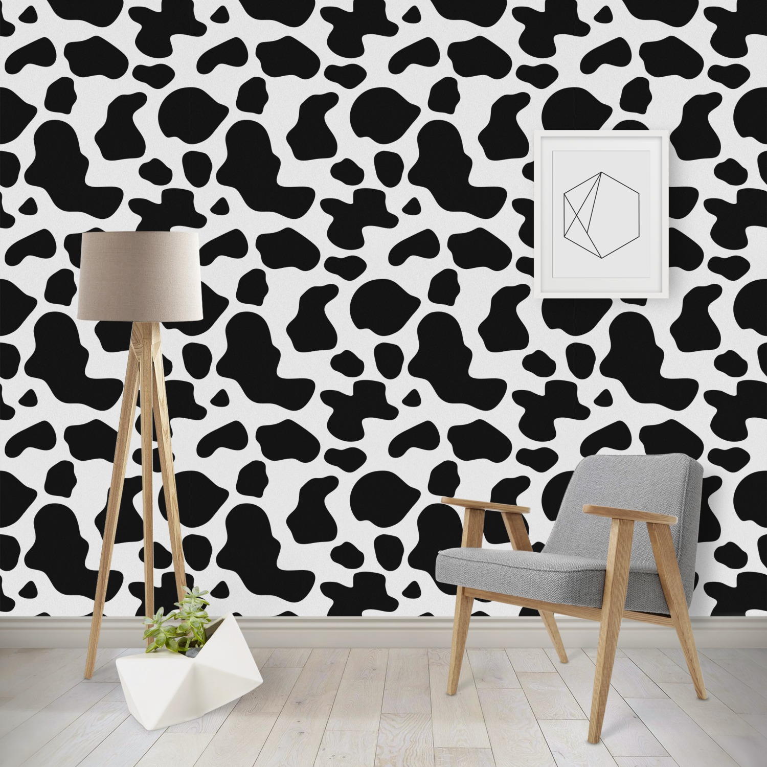 Cowprint W Cowboy Wallpaper Surface Covering Peel Stick Repositionable Youcustomizeit