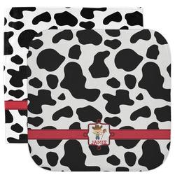 Cowprint w/Cowboy Facecloth / Wash Cloth (Personalized)