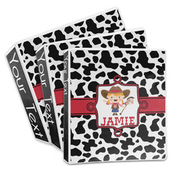 Cowprint Cowgirl 3-Ring Binder (Personalized)