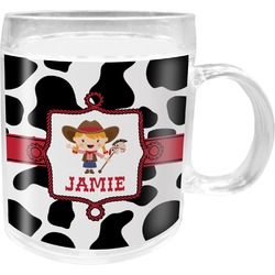 Cowprint Cowgirl Acrylic Kids Mug (Personalized)