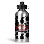 Cowprint Cowgirl Water Bottle - Aluminum - 20 oz (Personalized)
