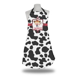 Cowprint Cowgirl Apron w/ Name or Text