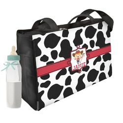 Cowprint Cowgirl Diaper Bag (Personalized)