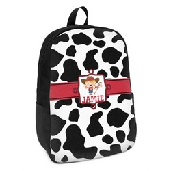 Cowprint Cowgirl Kids Backpack (Personalized)