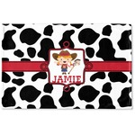 Cowprint Cowgirl Woven Mat (Personalized)