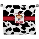 Cowprint Cowgirl Full Print Bath Towel (Personalized)