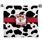 Cowprint Cowgirl Full Print Bath Towel (Personalized)