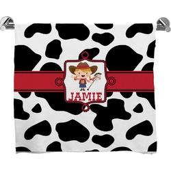 Cowprint Cowgirl Bath Towel (Personalized)