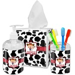 Cowprint Cowgirl Acrylic Bathroom Accessories Set w/ Name or Text