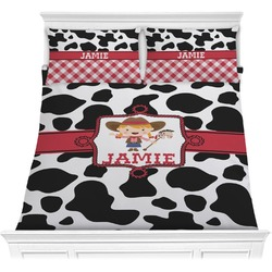 Cowprint Cowgirl Comforters (Personalized)