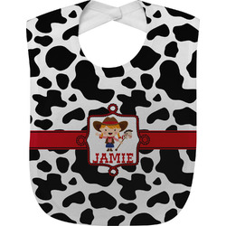 Cowprint Cowgirl Baby Bib (Personalized)