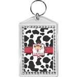 Cowprint Cowgirl Bling Keychain (Personalized)