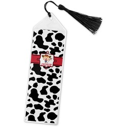 Cowprint Cowgirl Book Mark w/Tassel (Personalized)
