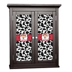 Cowprint Cowgirl Cabinet Decal - Custom Size (Personalized)