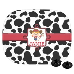 Cowprint Cowgirl Car Side Window Sun Shade (Personalized)