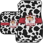 Cowprint Cowgirl Car Floor Mats (Personalized)