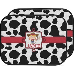 Cowprint Cowgirl Car Floor Mats (Back Seat) (Personalized)