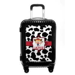 Cowprint Cowgirl Carry On Hard Shell Suitcase (Personalized)